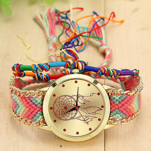 Handmade Aztec Braided Bohemian Dream Catcher Watch-Boots N Bags Heaven