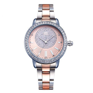 Wrist Watch Rose Gold Crystal Wrist Watch - Rose Gold Crystal Wrist Watch