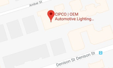 Map of CIPCO | OEM Automotive Lighting.com in Markham, Ontario Canada