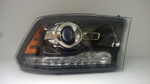 2013 2014 2015 Dodge Ram 1500 2500 3500 New Used Refurbished Black Projector Type OE OEM Headlight Headlamp Assembly Replacement by OEM Automotive Lighting.com