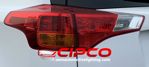 2013 2014 2015 Toyota Rav4 Left Driver Side New, Used OE, OEM Back Tail Light, Tail Lamp Assembly Replacement from OEM Automotive Lighting.com