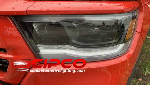 2019 2020 Dodge Ram 1500 2500 3500 New Used Refurbished OE, OEM Left Driver Side Halogen LED Bi-LED Headlight Headlamp Assembly Replacement from OEM Automotive Lighting.com