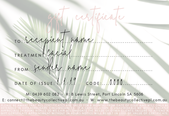 Gift Certificates - Ultraceuticals Facials