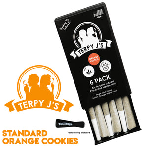 Standard Orange Cookies CBD Hemp Joint 6 Pack