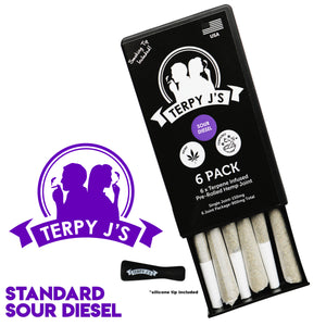 Standard Sour Diesel CBD Hemp Joint 6 Pack