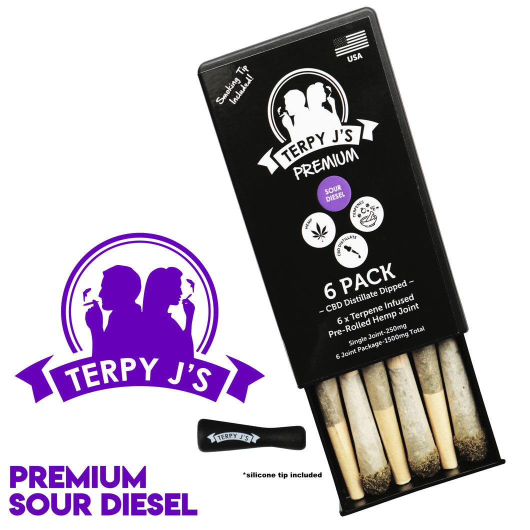 Premium Sour Diesel CBD Hemp Joint 6 Pack