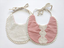 Maria Bib | Dusty Rose Lace | RTS