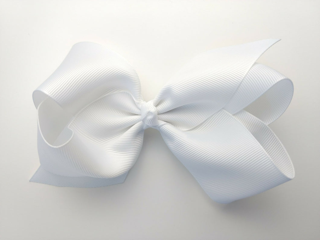 Daniela Boutique Bow- White