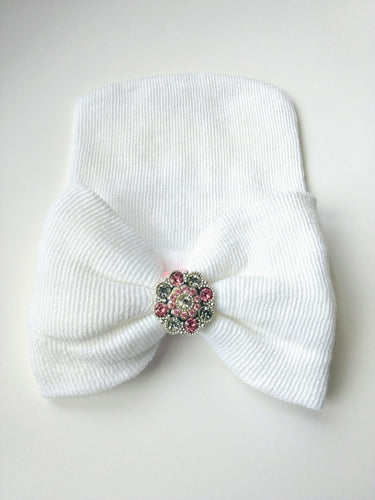 Newborn Hat- White | RTS
