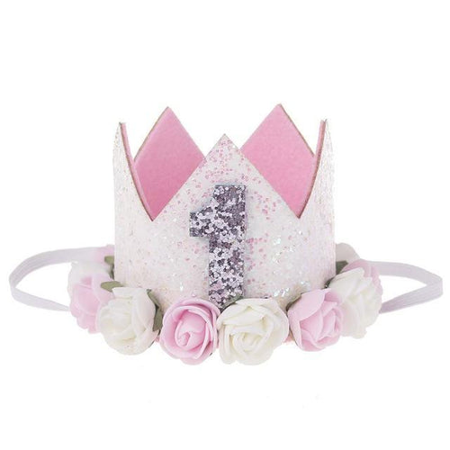 Party Crown- Pink/Silver