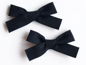 Jennifer Bow Pigtail Set - Black