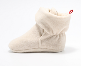 Ankle Strap Fleece Bootie- Stone