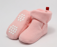 Ankle Strap Fleece Bootie- Pink | RTS