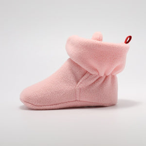 Ankle Strap Fleece Bootie- Pink