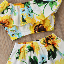 Sun Flower Off-Shoulder Toddler Set