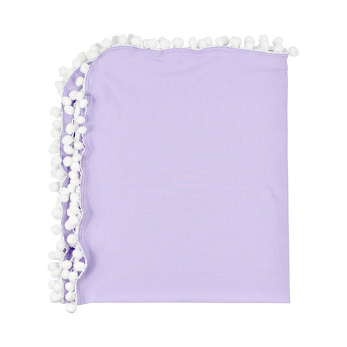 Pom Pom Swaddle Blanket | Purple