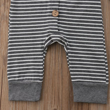 Striped LS Hooded Romper