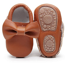 Bow moccasins w/ Rubber sole - 8  Color Options