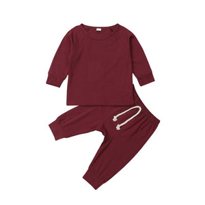 Solid Lounge Set | Wine Red