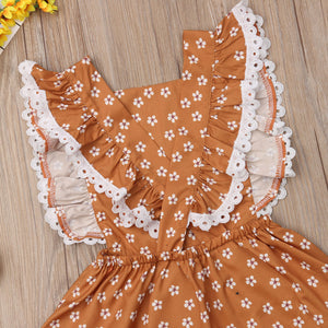 Floral Backless Toddler Dress | RTS