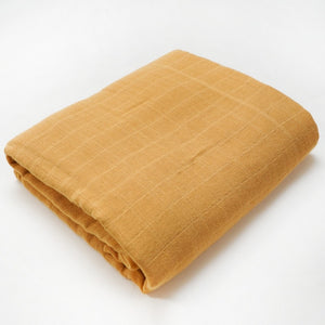 Muslin Blanket | Bamboo Cotton Blend | Dark Orange