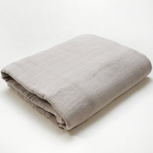Muslin Blanket | Bamboo Cotton Blend | Light Gray