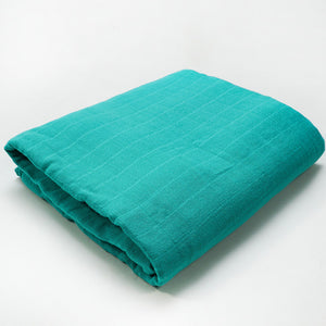 Muslin Blanket | Bamboo Cotton Blend | Teal