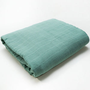 Muslin Blanket | Bamboo Cotton Blend | Mint Green