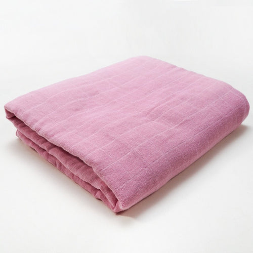 Muslin Blanket | Bamboo Cotton Blend | Pink