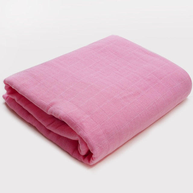 Muslin Blanket | Bamboo Cotton Blend | Rose Purple