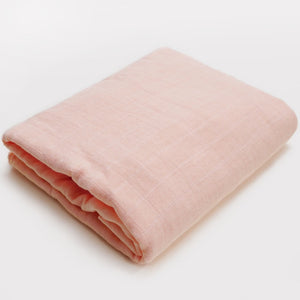 Muslin Blanket | Bamboo Cotton Blend | Peach