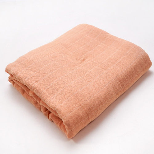 Muslin Blanket | Bamboo Cotton Blend | Orange