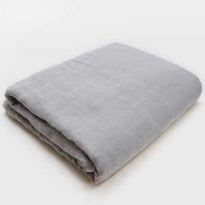 Muslin Blanket | Bamboo Cotton Blend | Dark Gray
