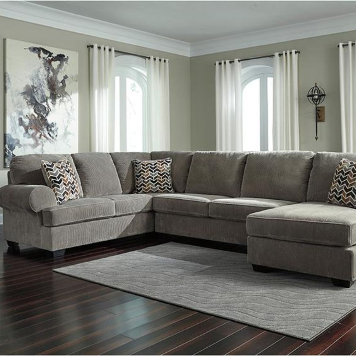 Flash Furniture Ashley Sectional - Wall2Wall Furnishings