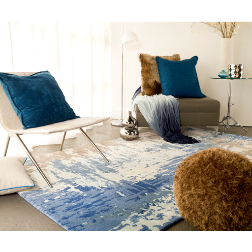 Blue Modern Area Rug - Surya Area Rugs - Wall2Wall Furnishings