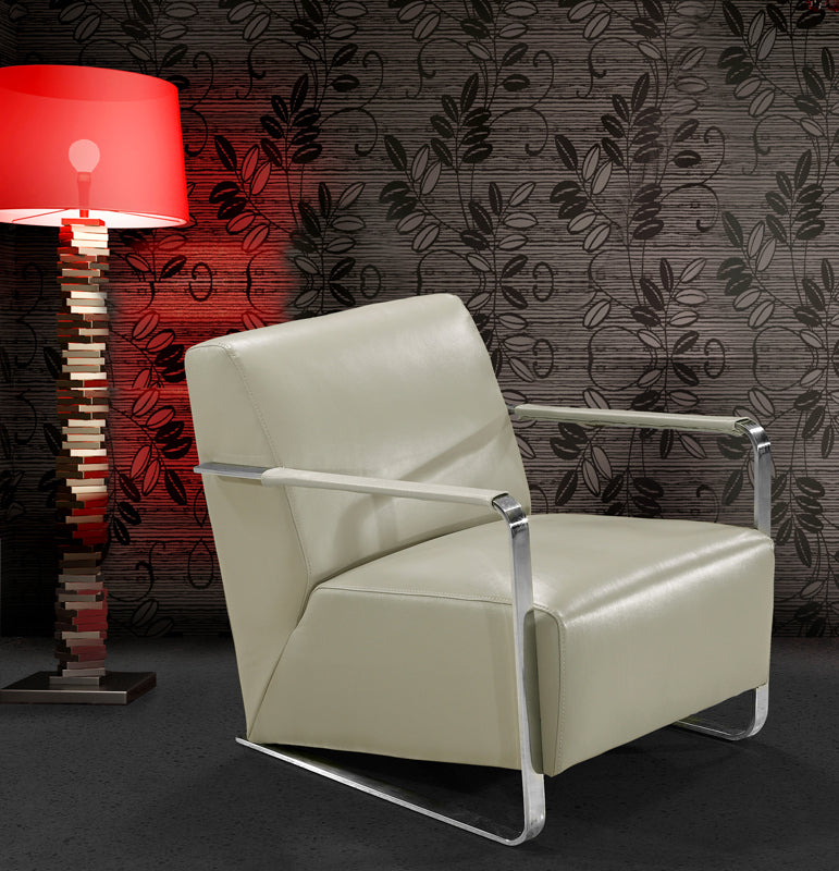 Divani Casa Bison - Modern Leather Lounge Chair-Lounge Chair-VIG-Wall2Wall Furnishings