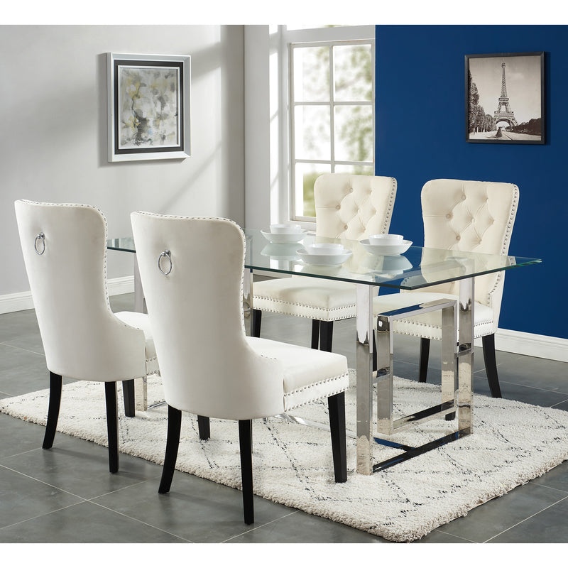 Eros/Rizzo 5Pc Dining Set-5Pc Dining Set-Worldwide Homefurnishings Inc-Wall2Wall Furnishings