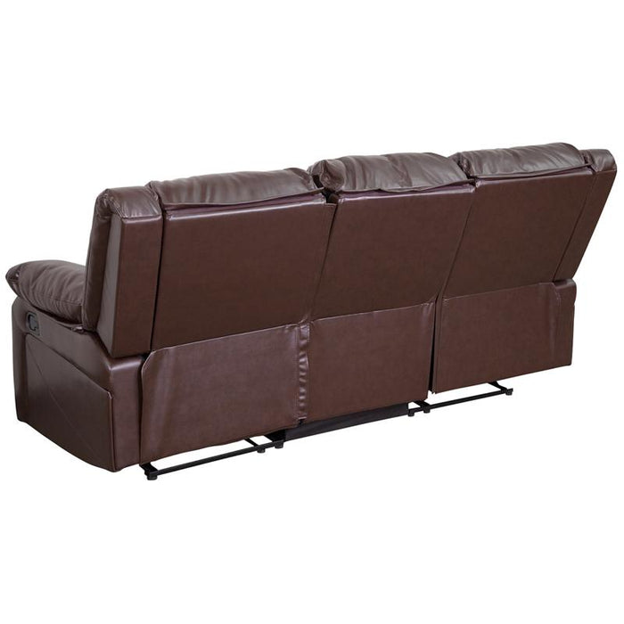 Harmony Series Leather Sofa with Two Built-In Recliners-Sofa-Flash Furniture-Wall2Wall Furnishings