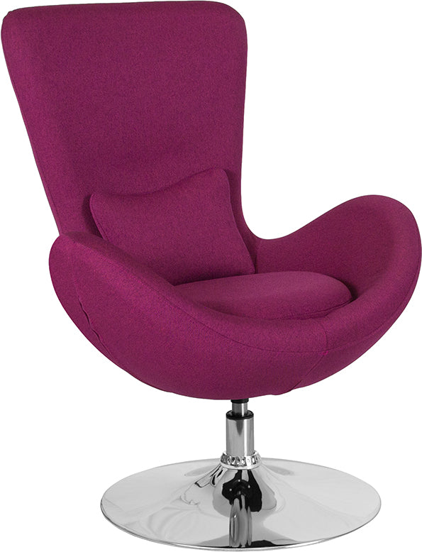 Egg Series Side Reception Chair with Bowed Seat-Egg Chair-Flash Furniture-Wall2Wall Furnishings