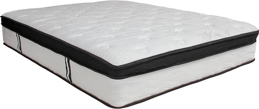 Cali Comfortable Sleep 12 Inch Memory Foam and Pocket Spring Mattress-In-A-Box-Mattress-Flash Furniture-Wall2Wall Furnishings
