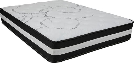 Capri Comfortable Sleep 12 Inch Foam and Pocket Spring Mattress, Full in a Box-Mattress-Flash Furniture-Wall2Wall Furnishings