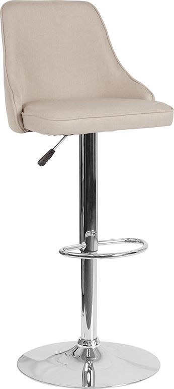 Trieste Contemporary Adjustable Height Barstool-Bar Stool-Flash Furniture-Wall2Wall Furnishings