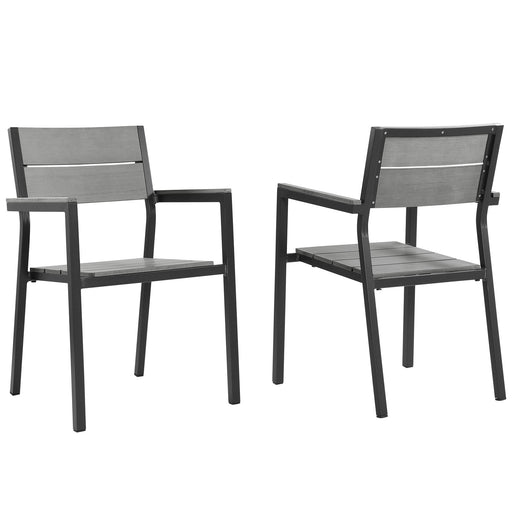 Maine Dining Armchair Outdoor Patio Set of 2-Outdoor Set-Modway-Wall2Wall Furnishings