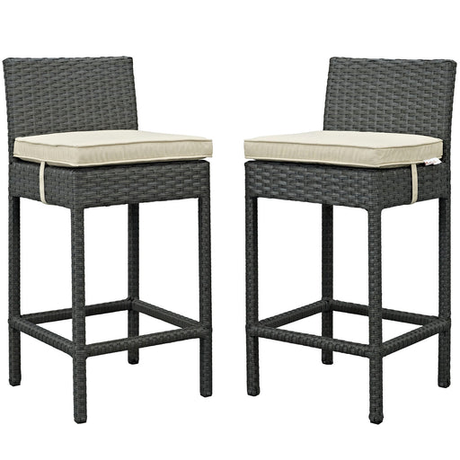 Sojourn 2 Piece Outdoor Patio Sunbrella® Pub Set-Outdoor Set-Modway-Wall2Wall Furnishings