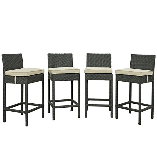 Sojourn 4 Piece Outdoor Patio Sunbrella® Pub Set-Outdoor Set-Modway-Wall2Wall Furnishings