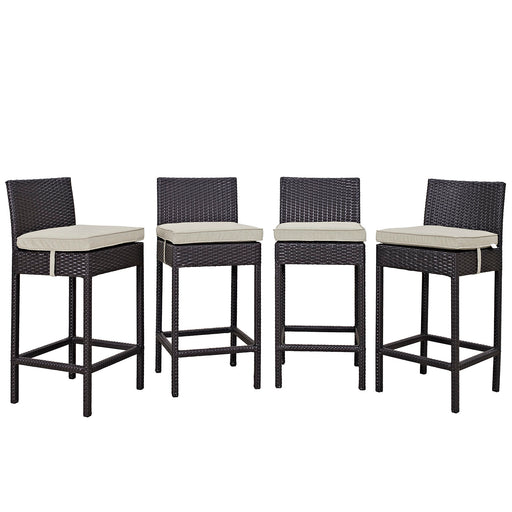 Convene 4 Piece Outdoor Patio Pub Set-Outdoor Set-Modway-Wall2Wall Furnishings