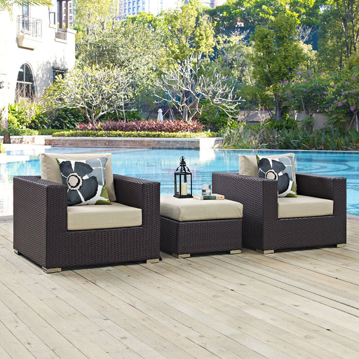 Convene 3 Piece Outdoor Patio Sofa Set-Outdoor Set-Modway-Wall2Wall Furnishings