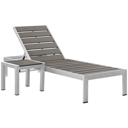 Shore 2 Piece Outdoor Patio Aluminum Set-Outdoor Set-Modway-Wall2Wall Furnishings