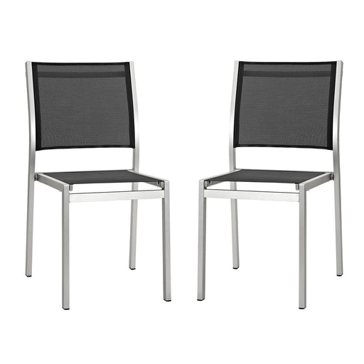 Shore Side Chair Outdoor Patio Aluminum Set of 2-Outdoor Set-Modway-Wall2Wall Furnishings