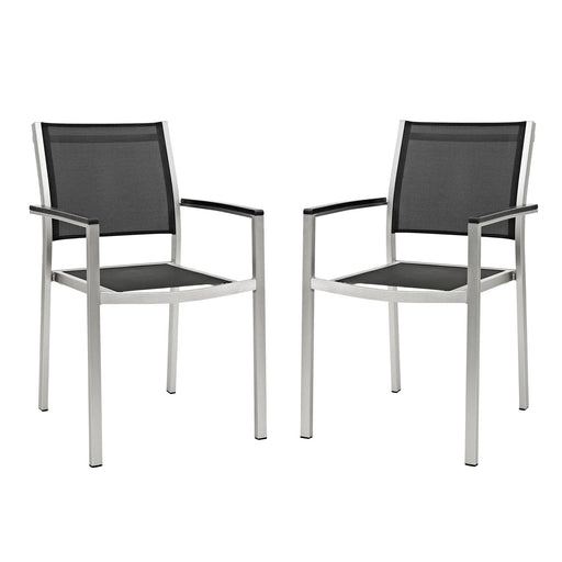 Shore Dining Chair Outdoor Patio Aluminum Set of 2-Outdoor Set-Modway-Wall2Wall Furnishings